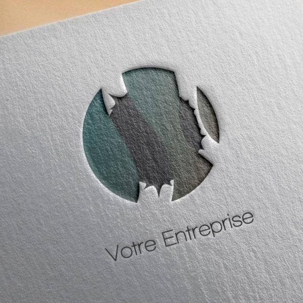 logo #10004 paper mockup