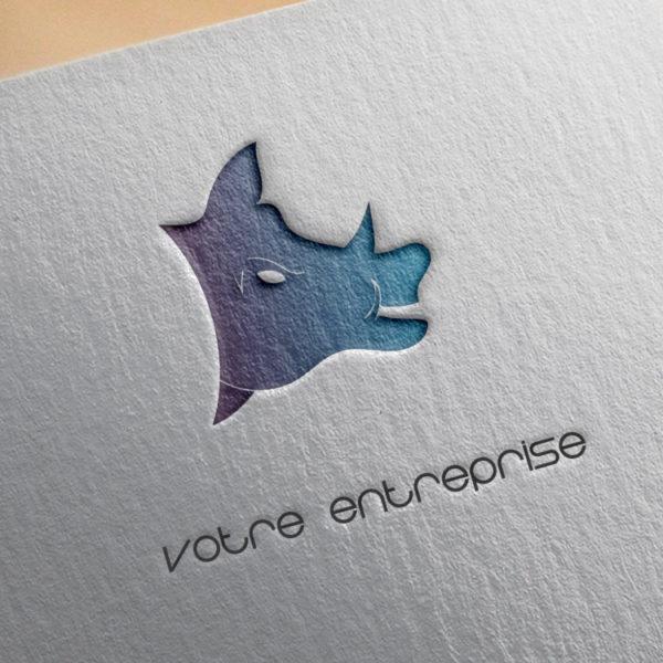 logo #10010 paper mockup