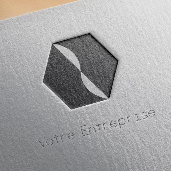 logo #10028 paper mockup