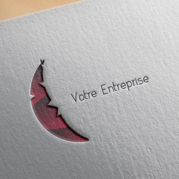 logo #10037 paper mockup