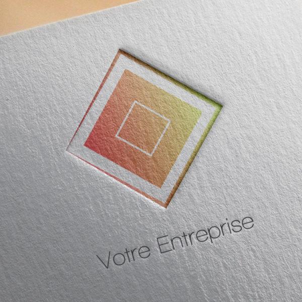 logo #10042 paper mockup