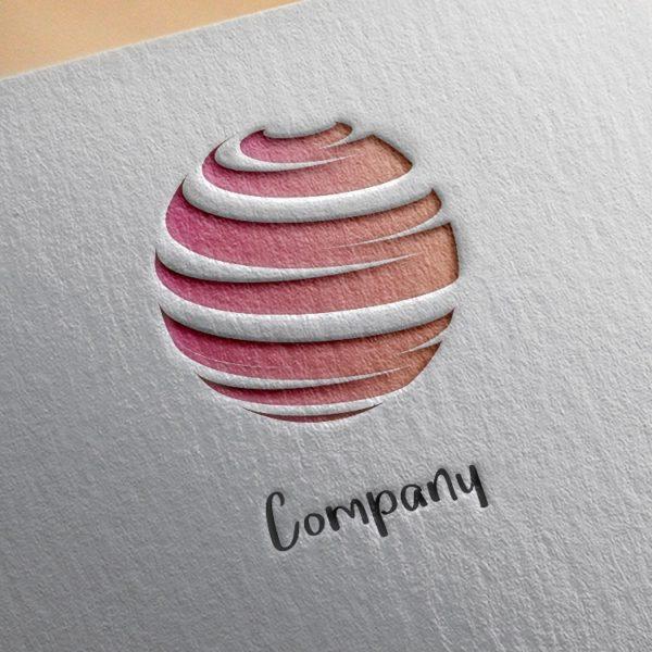 logo gratuit paper mockup